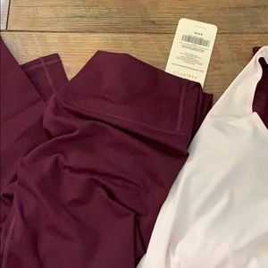 Brand new fabletics outfit top and bottom